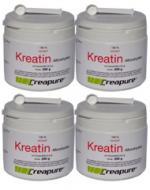 Vorteilspaket: 4 Dosen (je 250g) Kreatin-Monohydrat