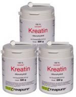 Vorteilspaket: 3 Dosen (je 500g) Kreatin-Monohydrat