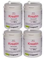 Vorteilspaket: 4 Dosen (je 500g) Kreatin-Monohydrat
