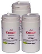 Vorteilspaket: 3 Dosen (je 1000g) Kreatin-Monohydrat