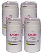 Vorteilspaket: 4 Dosen (je 1000g) Kreatin-Monohydrat
